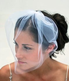 Tulle Bridal Illusion Birdcage Veil Blusher Veil by GildedShadows, $27.95