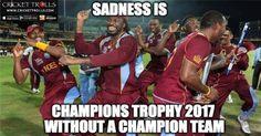 West Indies Cricket team will be missed in ICC Champions Trophy 2017 #WI #Cricket Cricket Trolls Cricket on Facebook #ICC ICC - International Cricket Council #Champion http://westindies.crickettrolls.com/2016/06/12/west-indies-cricket-team-will-be-missed-in-icc-champions-trophy-2017/