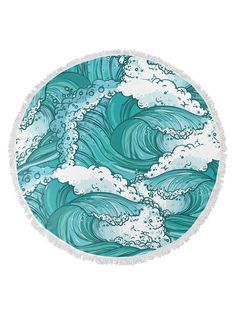 Wave Round Beach Towel by Kavka Designs at Gilt