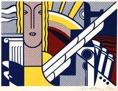 Roy Lichtenstein: Modern Art Poster Year: 1967 Medium: Screenprint on smooth, ivory wove paper Dimensions (metric): 20.3 x 27.8 cm