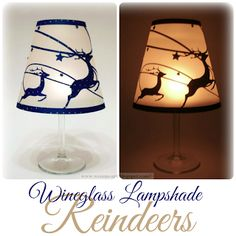 free studio file or png if you contact her! Wineglass Lampshade Reindeer - too cute! by wesens-art.blogspot.com