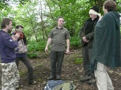 Ecotherapy workshop participants about to take part in the Meet a Tree exercise.  #ecotherapy #wildernesstherapy #psychotherapy #counselling #outdoors #camping #bushcraft #woodland #naturetherapy #manchester #wales