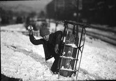 Snowball Fight, Detroit c.1929