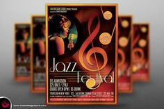 Jazz Festival Flyer Template V4 By Thats Design Studio
