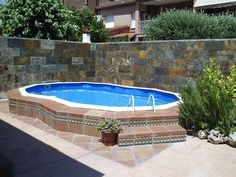 Buy your online pool. Swimming Pool Heaters, Swimming Pools, Jacuzzi, Dipping Pool, Inground Pool Designs, Pool Landscape Design, Small Pool Design, Duplex House Design, My Pool