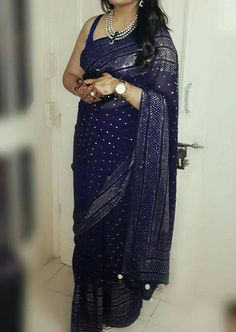 Pure Georgette Muqaish Saree! To order/buy please contact Nityabatra70@gmail.com
