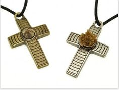 Free shipping buy now old copper color Striped Metal Cross pendant at $47