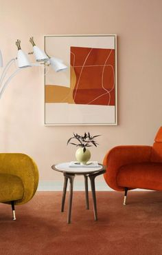 Always add orange peel elements. Those will give you a warm feeling where space automatically gets cosy and livable. #DelightFULL #LampDesign #UniqueLamp #MidCentury ⎜delightfull.eu/inspirations