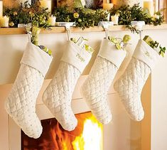 white-pottery-barn-stockings  these would be so simple to make!