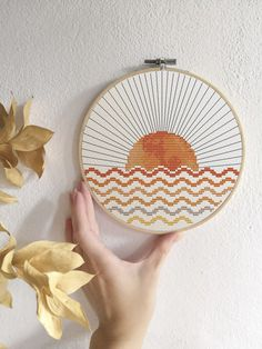 Boho sun cross stitch pattern Modern cross stitch PDF Abstract sun and sea Modern Cross Stitch Patterns, Counted Cross Stitch Patterns, Cross Stitch Designs, Embroidery Art, Cross Stitch Embroidery, Embroidery Patterns, Loom Patterns, Simple Cross Stitch, Cross Stitch Sea