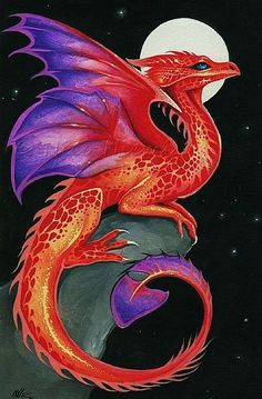 Little red dragons with wing tips of purple. If you see one you will have five years of good luck.