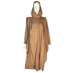 Anne Marie Beretta Ramosport Vintage Beige Raincoat Manteau Cape 1980 1