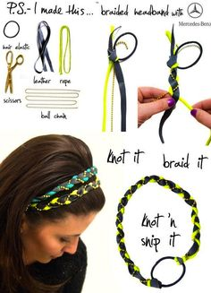 A nice braided headband and we can make it by our own.