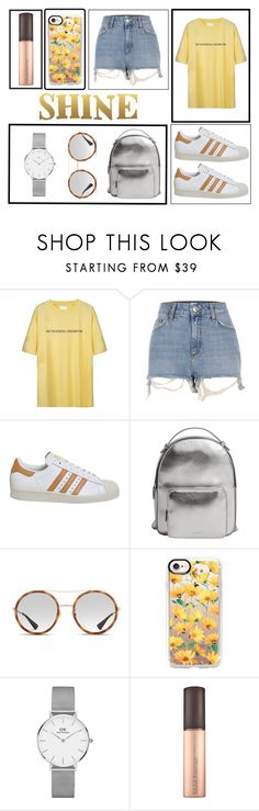 """SHINE"" by maikenmuz on Polyvore featuring River Island, adidas, MANGO, Gucci, Casetify, Daniel Wellington and Sixtrees"