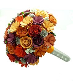 Paper flower bridal bouquet - READY TO SHIP