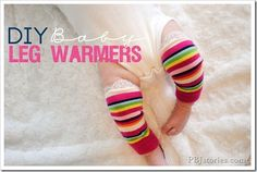 DIY Baby Leg Warmers on PBJstories Socks and lace
