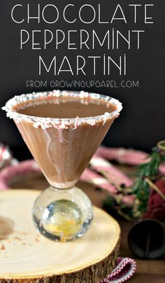 Get ready for Christmas with this chocolate peppermint martini. It's only three ingredients and so easy to make! It's the perfect Christmas cocktail.