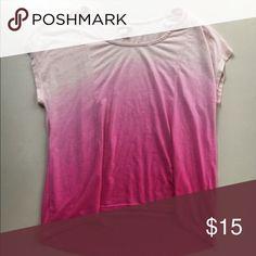 Hot pink soft ombré print tee Super cute! Vibrant color. E144 Tops Tees - Short Sleeve