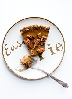 Winter Squash Pie with Candied Pecans