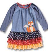 Fox Applique Ruffle Dress - CWDkids - Kids Clothing - CWDkids