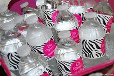 Zebra water bottle labels (waterproof!)