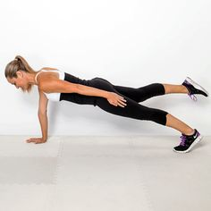 Pin if you've mastered the plank. this arm & leg switch really takes it up a notch!