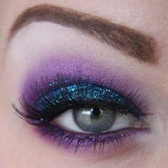 Video Makeup tutorial: Glittering Purple eye makeup