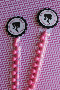 12x Barbie Candy Favor Tubes  Birthday by MyPrettyLittleParty, $15.00