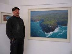 Neil Pinkett with Pendeen Light, oil on board 29 x 39cm, available from: www.cornwallcontemporary.com