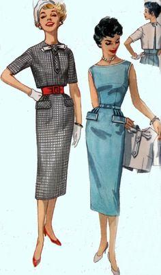1950s Simplicity 2439 ROCKABILLY Sheath Dress with by sandritocat, $20.00