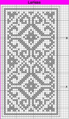 Crochet doilies rectangle free pattern 62 Ideas for 2019 Filet Crochet Charts, Crochet Cross, Knitting Charts, Thread Crochet, Knitting Patterns, Free Crochet, Cross Stitch Borders, Cross Stitching, Cross Stitch Embroidery