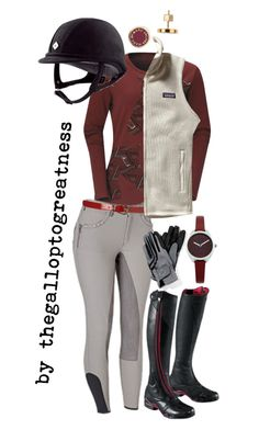 """""""BurgunDring"""" by thegalloptogreatness ❤ liked on Polyvore featuring Patagonia, Oasis, Ariat, Marc by Marc Jacobs, women's clothing, women, female, woman, misses and juniors"""