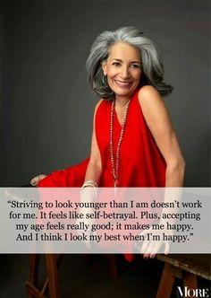 Great attitude! #ageless #beauty.