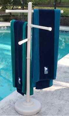 Outdoor portable towel holder rack - pool patio spa yard