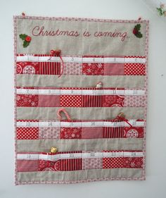 Christmas advent calendar Scandinavian red & by SewSweetViolet