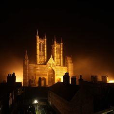 Lincoln Cathedral by David Bank Photography Gothic Buildings, Unusual Buildings, Gothic Architecture, Lincoln Cathedral, Cathedral Church, Wonderful Places, Beautiful Places, Lincolnshire England, England And Scotland