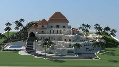 sandstone mansion minecraft building ideas download plaza fancy huge amazing