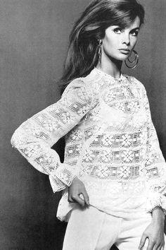 Jean Shrimpton in British Vogue, July 1966, by David Bailey