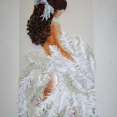 En Yeni Quilling Çalışmaları - Mimuu.com Paper Quilling Designs, Quilling Craft, Feather Crafts, Feather Art, Book Crafts, Paper Crafts, Art Crafts, Crafts For Kids, Arts And Crafts