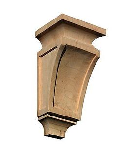 """6""""H X 3""""W, 10""""H X 5""""w, Roble Rojo talladas a mano de madera de abedul Corbel Onlay"""