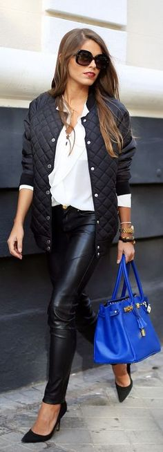Quilted jacket..here any day..folow us!! #dailychic Would love the Hermes in every colour.