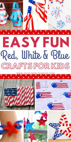 labor day crafts for kids Here are 50 of July Crafts for Kids. These are easy to make and fun. Add one or more of these patriotic crafts to your independence day to-do list. Summer Crafts For Kids, Diy For Kids, Summer Fun, Summer Parties, 4th Of July Party, Fourth Of July, Toddler Crafts, Preschool Crafts, Kids Crafts