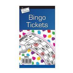 600-Juego-De-Bingo-billete-unico-Tarjeta-Flyer-almohadillas-Libro-100-hojas-de-seguridad-codificada