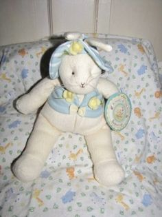"""12"""" Bunnies By The Bay """"Buttercup"""" Collectible Plush With Original Hang Tag"""