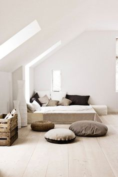 Attic spaces are considered difficult to decorate and accommodate everything you need. Today's roundup will prove that an attic bedroom can be an amazing .