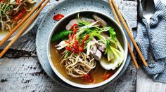 Kylie Kwong's chicken noodle soup with a chilli kick
