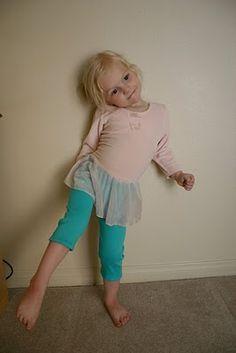 Leggins tutorial - I'm not going to spend 7 bucks on leggings for my 4 year olds!
