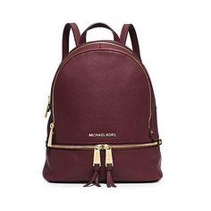 MICHAEL Michael Kors Rhea Small Leather Backpack Burgundy