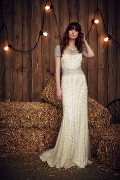 Stunning beaded wedding dress by designer Jenny Packham