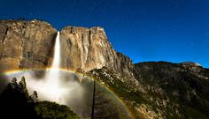 moonbows yosemite landscape photography  Lunar Rainbow, is a rainbow produced by light reflected off the surface of the moon rather than from direct sunlight. It's considered as a rare occurrence because there were too much requirements such as lightness and distance of the moon that limits the formation of a moonbow.